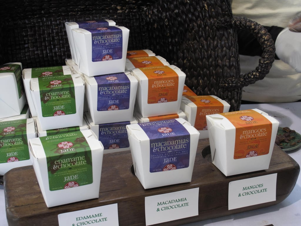Jade Chocolates drew hungry chocoholics with its edamame, macadamia, and mango chocolate combinations, packaged in colorful takeout boxes.