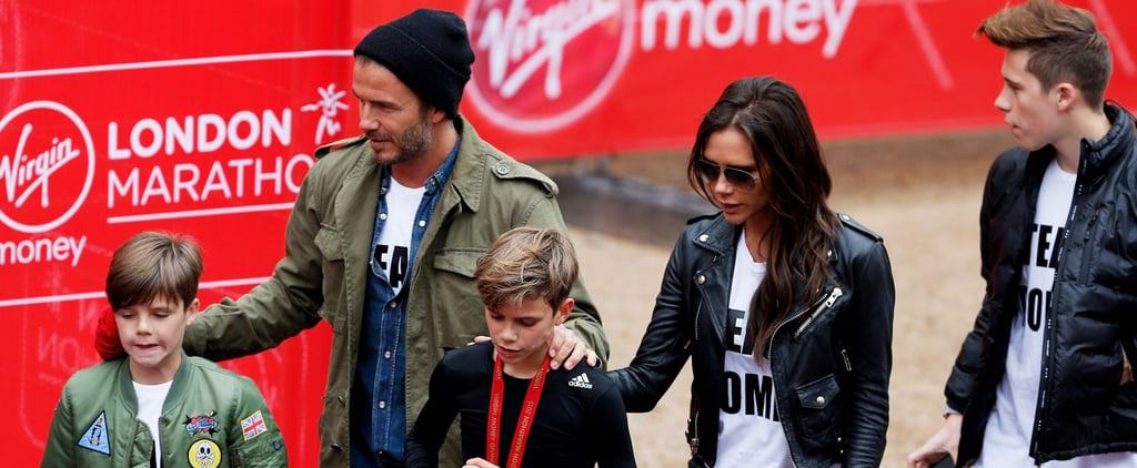 The Beckhams Root For Romeo at the London Marathon — and It's a Cuteness Overload