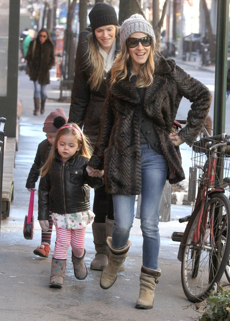 SJP Takes Her Kids For a Stroll Amid Big Broadway News