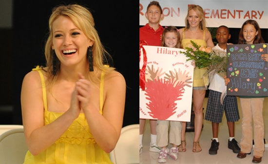 Hilary Duff Launches Boca Blessings in a Backpack Day