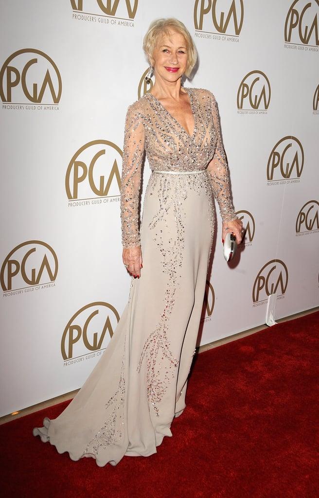 Helen Mirren looked gorgeous.