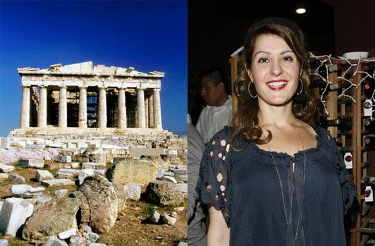 Nia Vardalos: First Person to Film at Acropolis