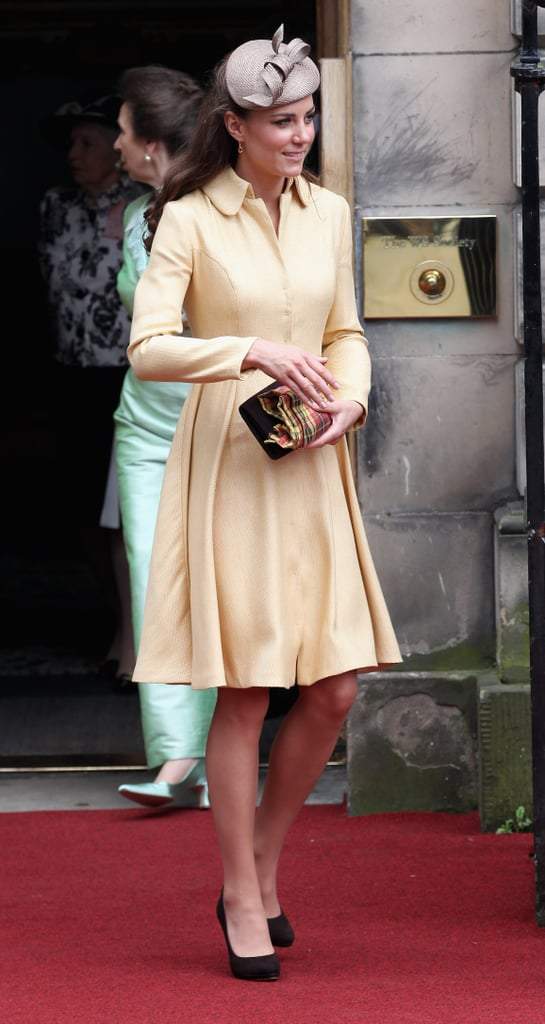 Kate Middleton carried a clutch at the Thistle Ceremony in Scotland.