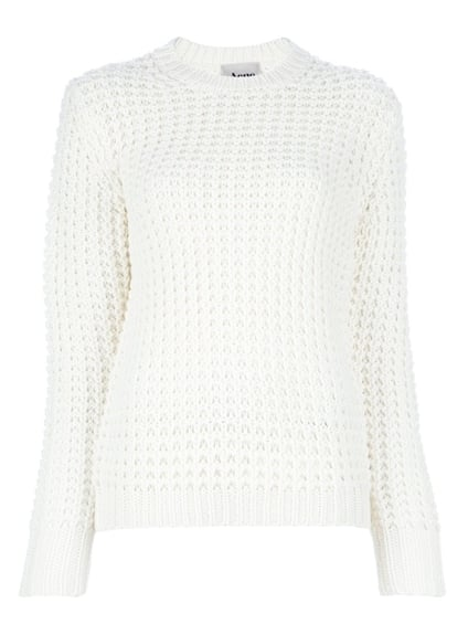 Fresh, perforated detailing makes this Acne Lina Pinapple Sweater ($299) a little more contemporary than that cable-knit you've had in your closet for seasons and seasons.