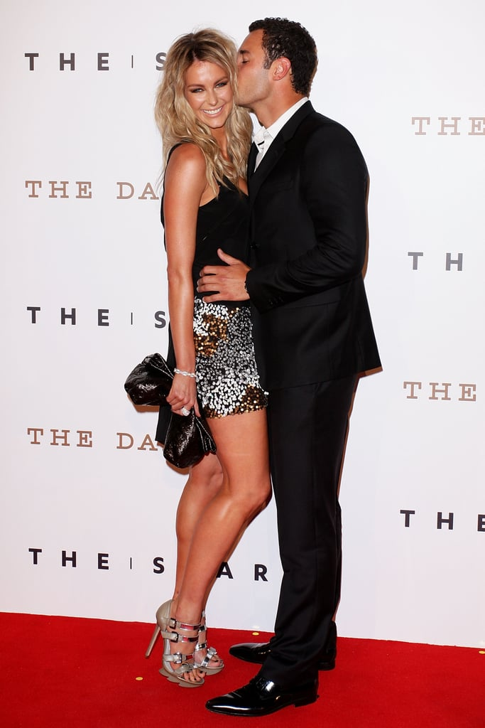 Jake gave Jennifer a big kiss at the re-opening of The Star in Sydney in Oct. 2011.