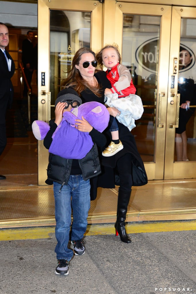 Angelina Jolie Goes Toy Shopping in NYC With the Kids!