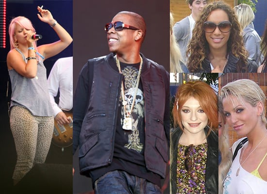 Photos of Jay-Z and Lily Allen At the O2 Wireless Festival