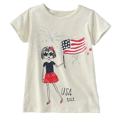 Your American girl can showcase her style in OshKosh B'gosh's sparkly USA Girl tee ($13, originally $20).