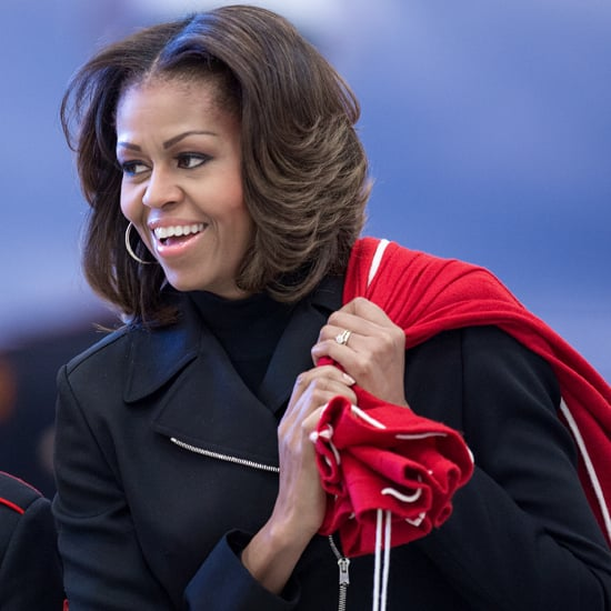Michelle Obama at the US Marine Corps Toys For Tots 2013