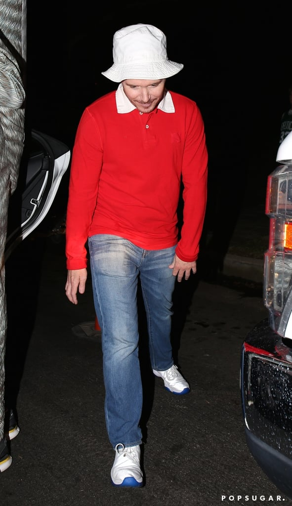 Kevin Connolly got in character as Gilligan from Gilligan's Island.