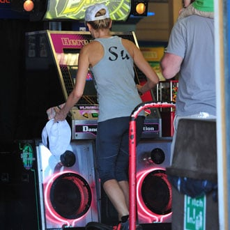 Guess the Celebrity on a Dance Machine