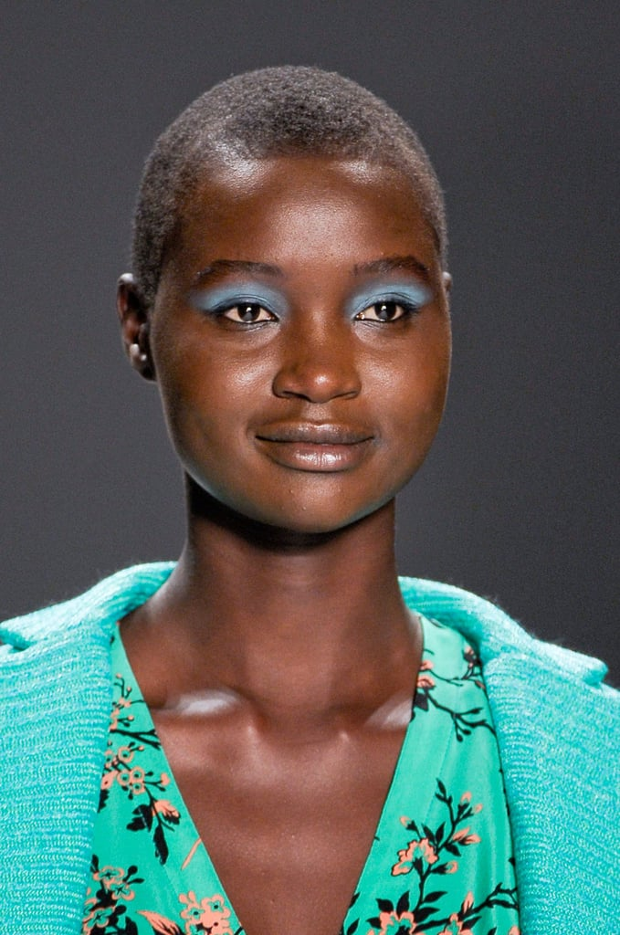 Add a swipe of blue eye shadow across your lids for a punchy Spring hue.