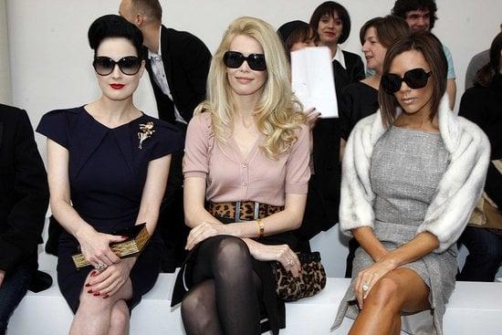 Victoria Beckham at the Mouret Show at Paris Fashion Week