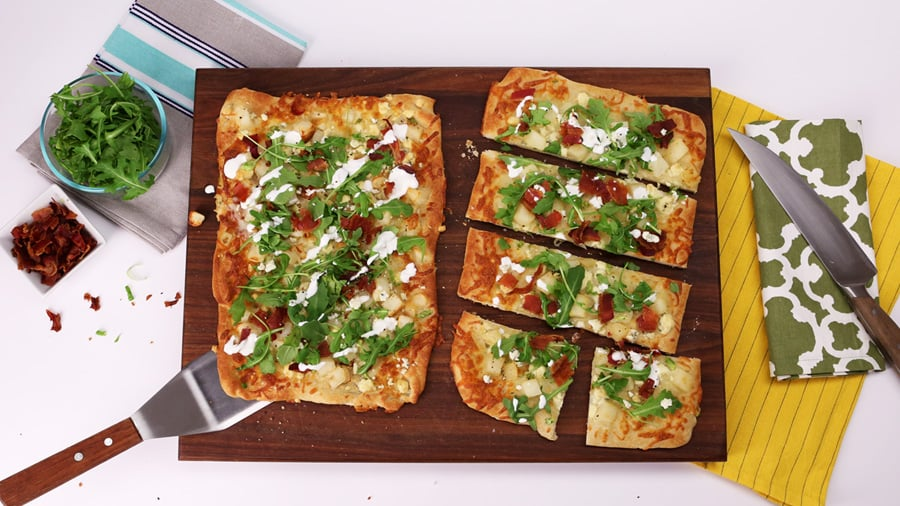 Bacon, Arugula, and Blue Cheese Flatbread