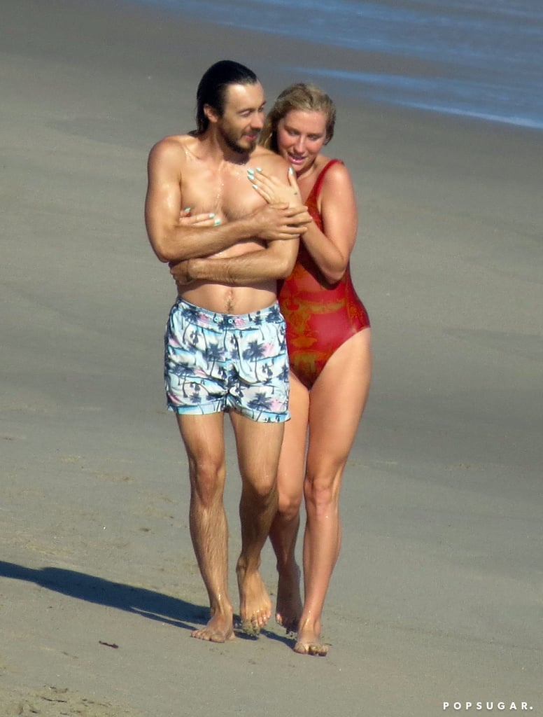 On Friday, Kesha got close to a pal at the beach in Malibu, CA.