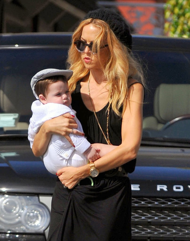 Rachel Zoe carried an impeccably outfitted Skyler Berman.