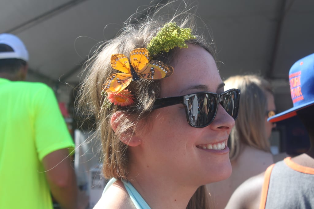 We have to give Laura credit: her butterfly headband was an original look among so many floral hair accessories around the grounds.