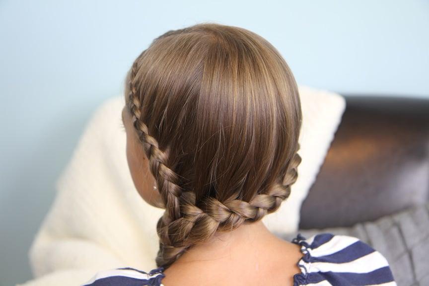 Double-Lace Side Braid