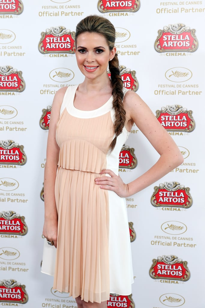 A gorgeous rope braid was actress Carly Steel's look du jour at the Stella Artois Suite at Cannes.