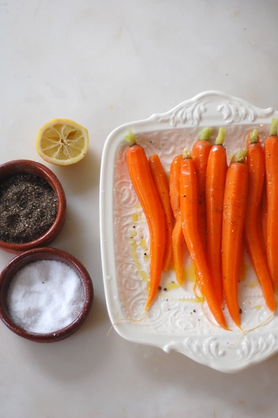 Steamed Carrots With Olive Oil and Lemon