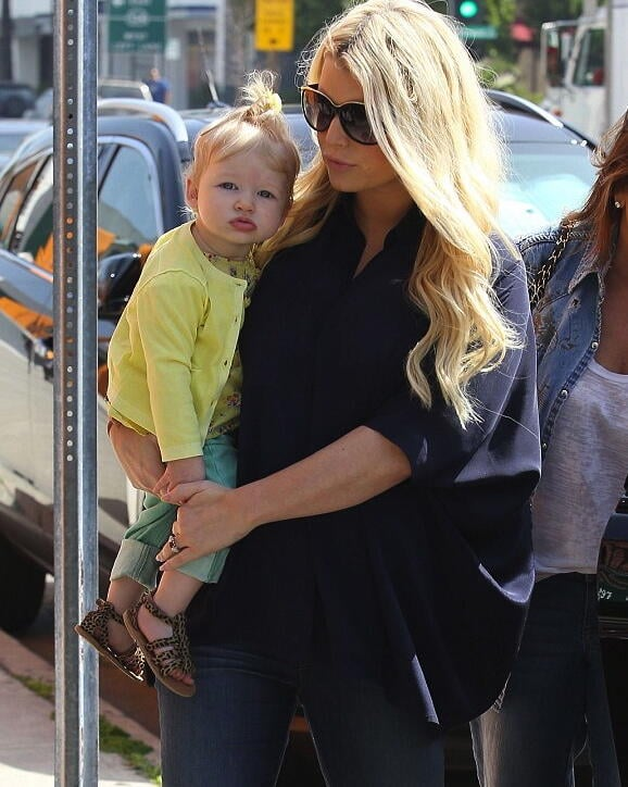 Jessica Simpson noticed that baby Maxwell has the same pout as her mama. Source: Twitter user JessicaSimpson