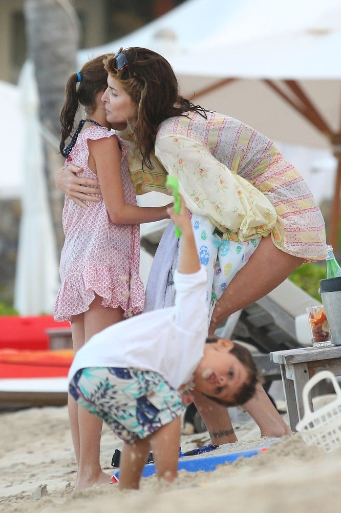 Stephanie Seymour hugged her daughter, Lily Brant.