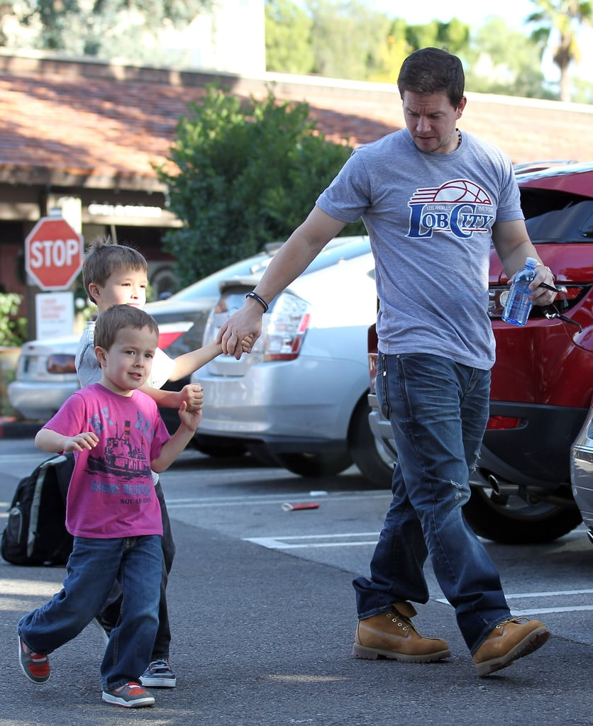Mark Wahlberg took his sons out to lunch.