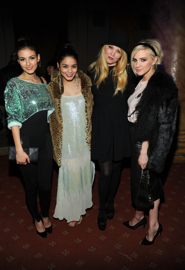 Victoria Justice, Vanessa Hudgens, and Ashlee Simpson posed with designer Kim Gordon at the Wildfox Fall presentation in NYC in February.