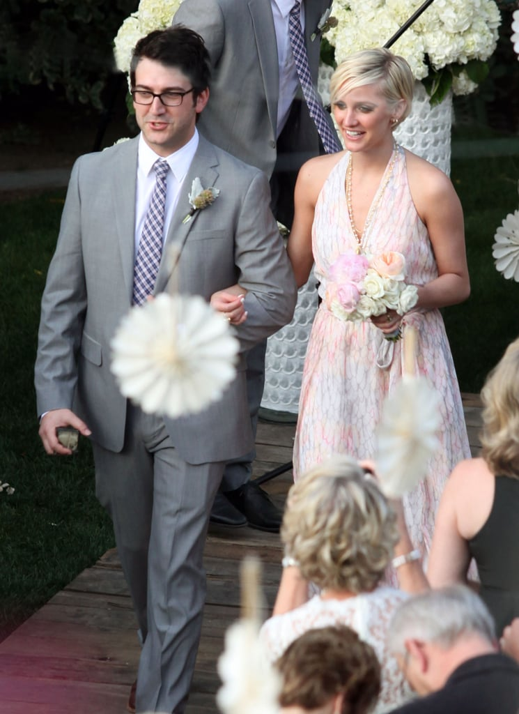 """Ashlee Simpson walked down the aisle as a pal said """"I do"""" in Palm Springs in March 2012."""