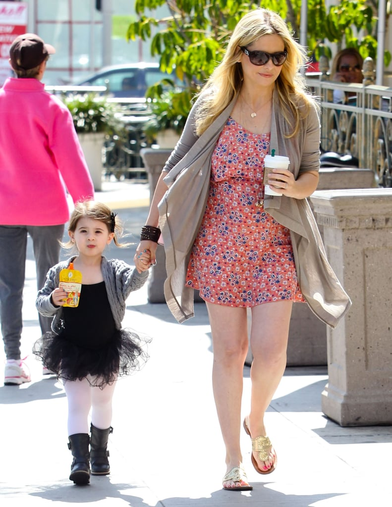Sarah Michelle Gellar and daughter Charlotte stopped for drinks on the way to a ballet class in LA.