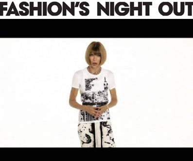 To help save the fashion industry, Anna spearheaded Fashion's Night Out and even made a debut in the PSA.
