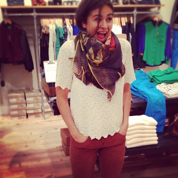 Style Director Noria Morales couldn't have been cuter or happier to be at the Madewell event in NYC.