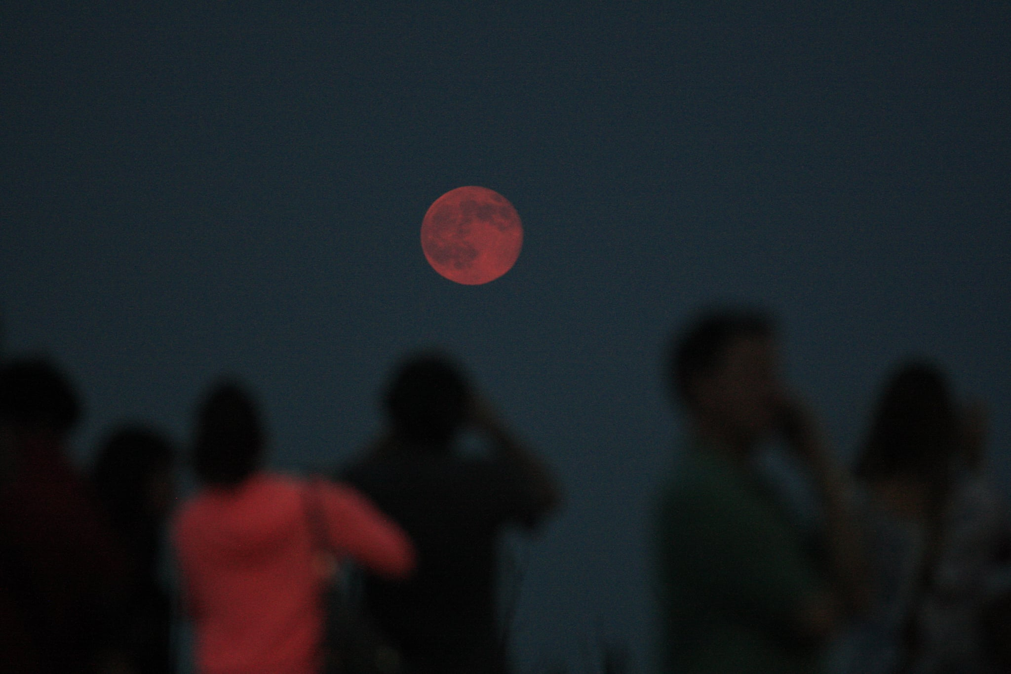 The supermoon is said to be 30 percent brighter than other full moons.