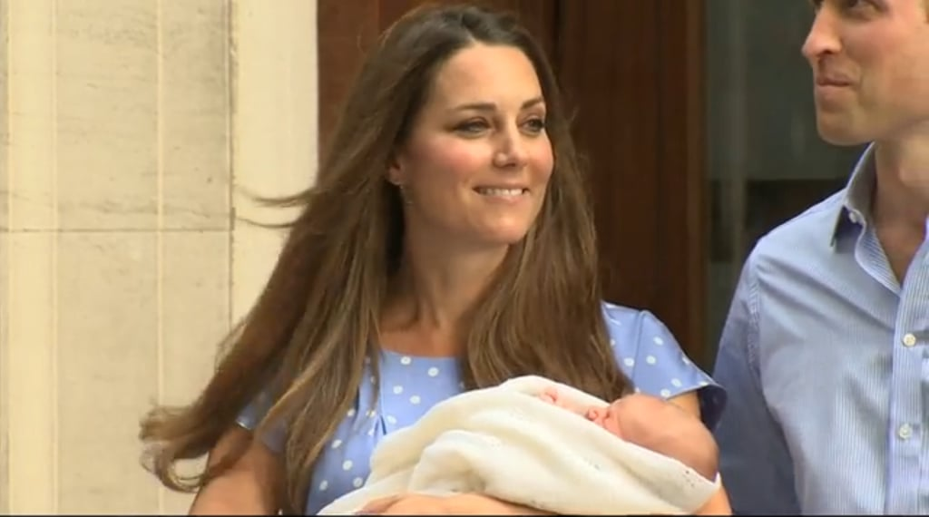 Kate Middleton was glowing when she held the royal baby while leaving the hospital with Prince William.