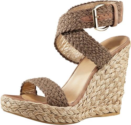 Stuart Weitzman Crocheted Ankle-Wrap Espadrille