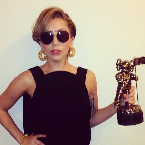 Lady Gaga stopped by the MTV offices. Source: Instagram user ladygaga