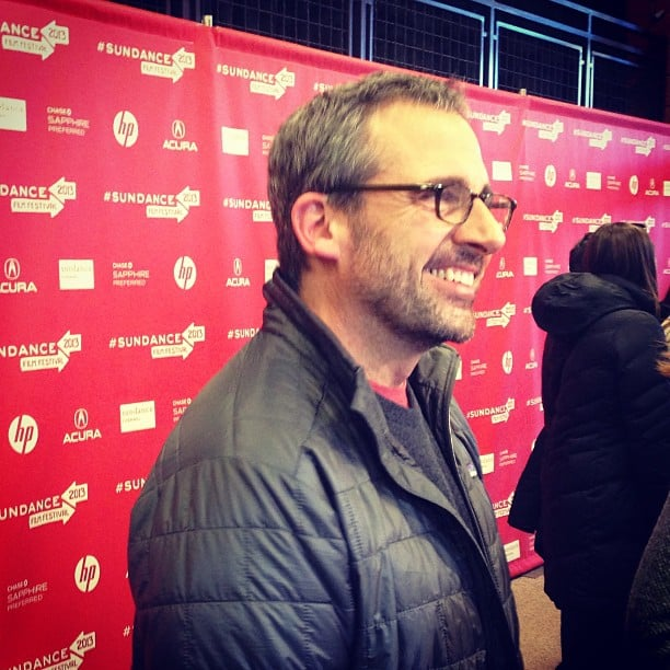 A salt-and-pepper-haired Steve Carell was also at Sundance to support The Way, Way Back.