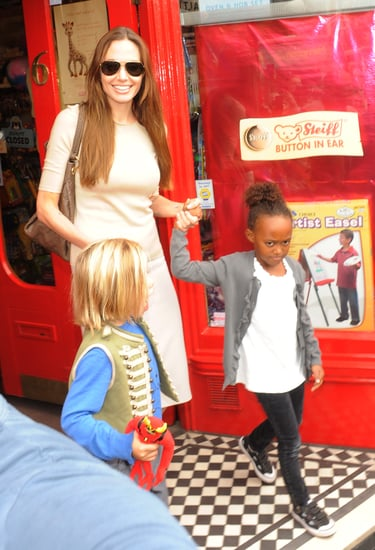 Angelina Jolie Buys Toys in London With Zahara and Shiloh