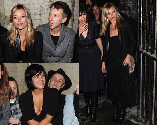 Photos of Kate Moss and Lily Allen at London Fashion Week 2010-02-24 17:00:00