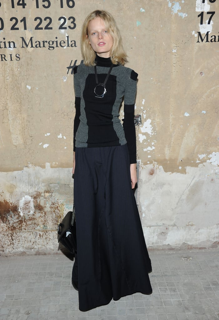 Hanne Gaby Odiele attended the launch of Maison Martin Margiela for H&M in NYC.