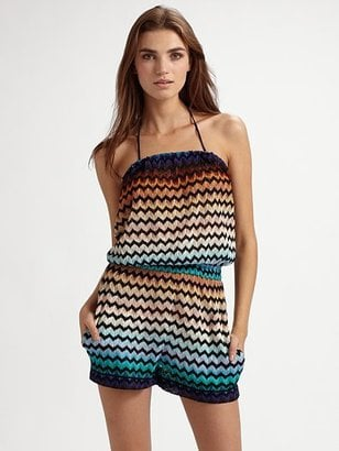 This romper can go from beach to bar in no time.   Missoni Strapless Cover Up, $840