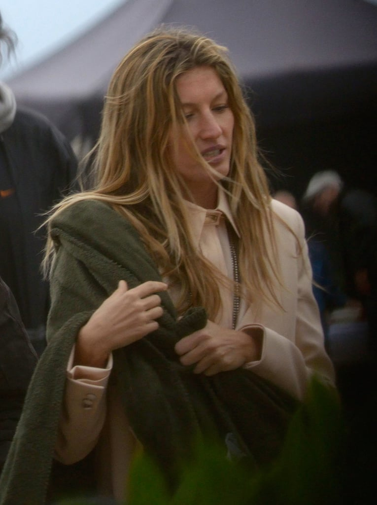 Gisele Bundchen at her Givenchy photoshoot in Barcelona.