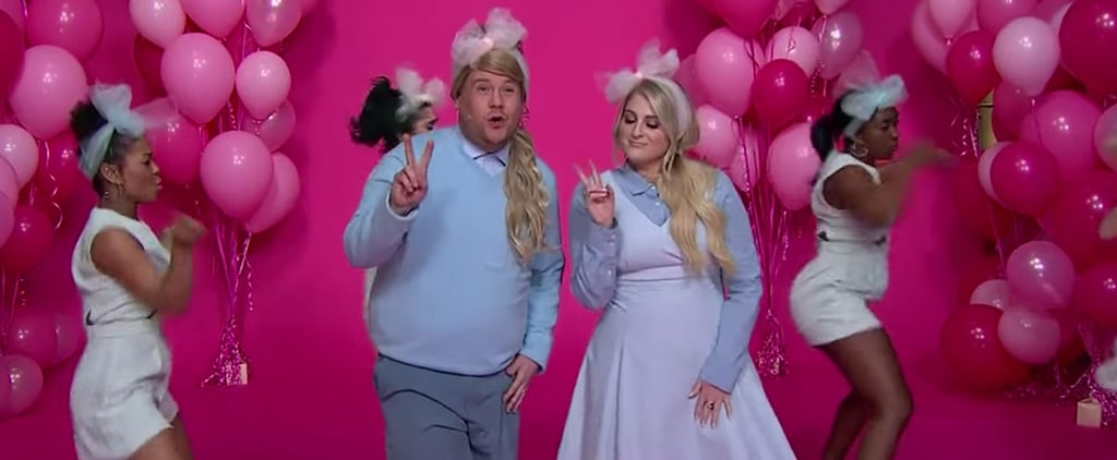 """Meghan Trainor Helps James Corden Keep His New Year's Resolutions With a Hilarious """"All About That Bass"""" Parody"""