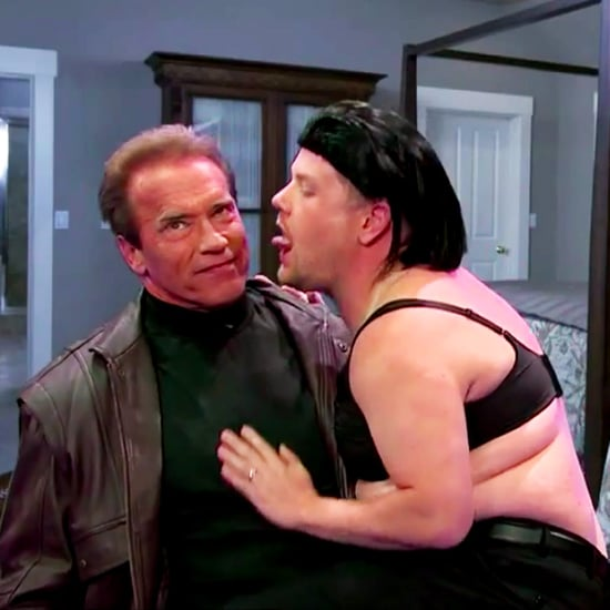 Arnold Schwarzenegger and James Corden Act Out Movies