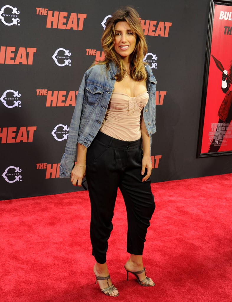 Jennifer Esposito showed her support for her pal Melissa McCarthy at the premiere of The Heat.