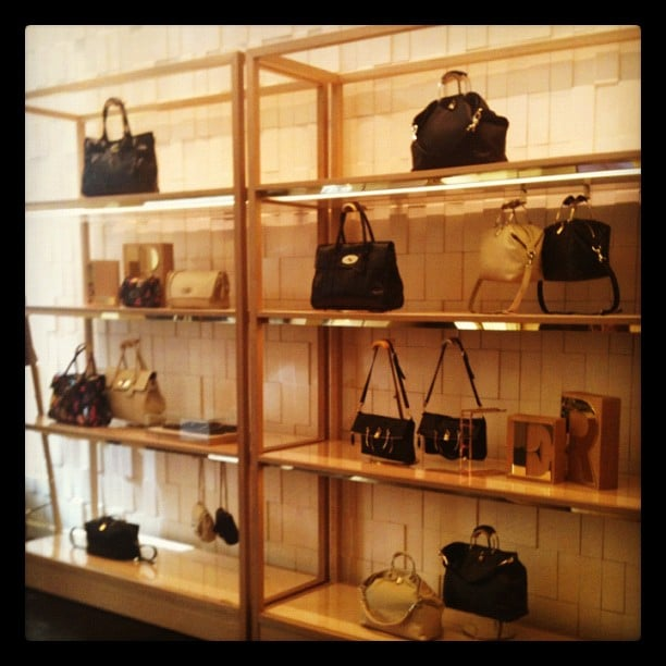 More eye candy at Mulberry's San Francisco store opening earlier this year.
