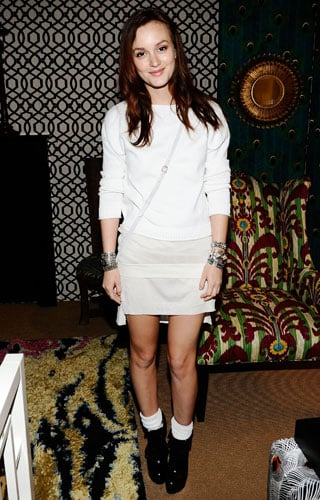 Pictures of Leighton Meester at 2011 Spring Fashion Week