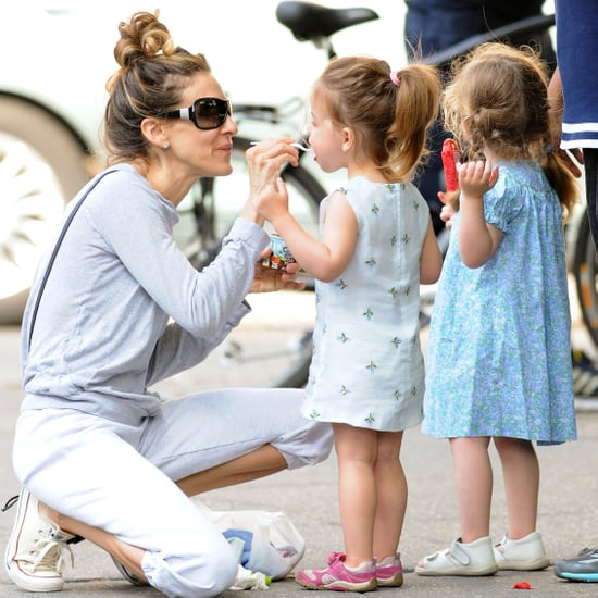 Sarah Jessica Parker With Twin Daughters at the Park NYC Pictures