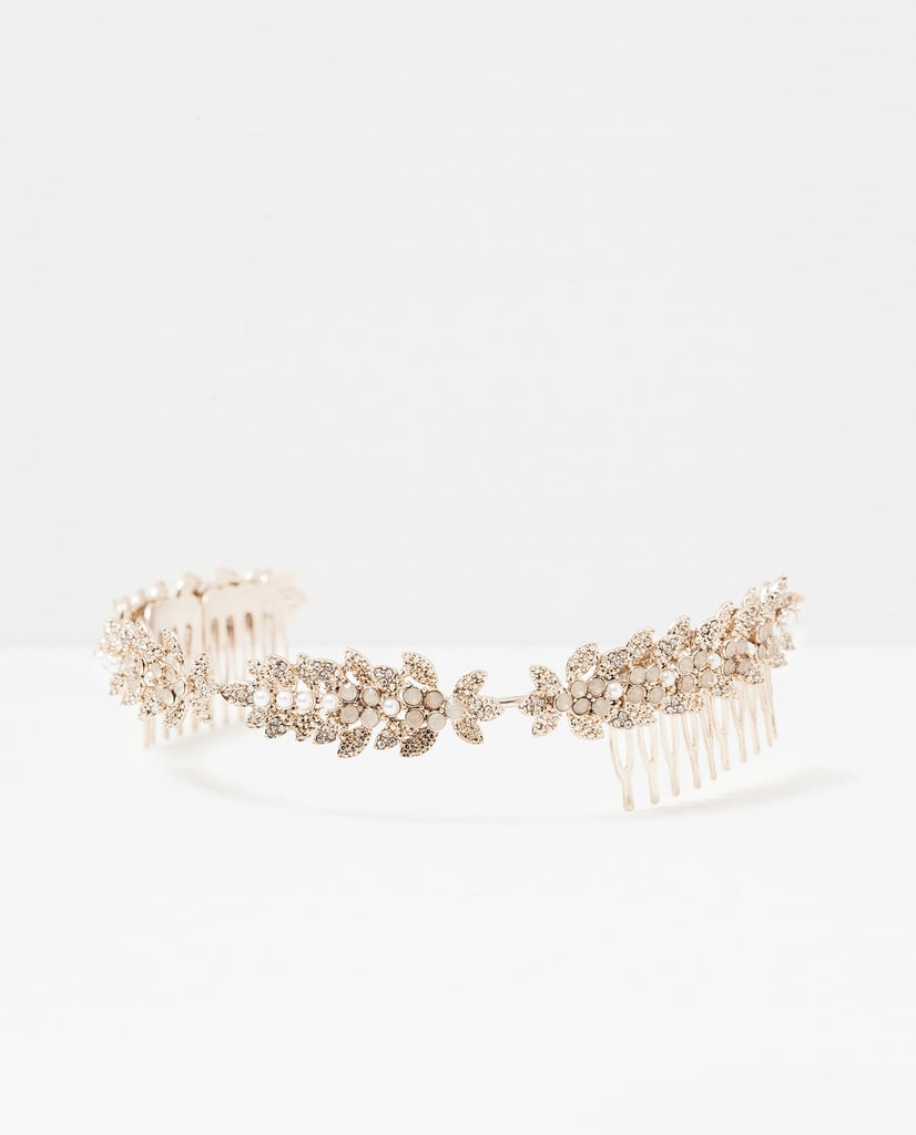 You don't have to be a princess to love this dainty Zara Leaf Hairband ($23).