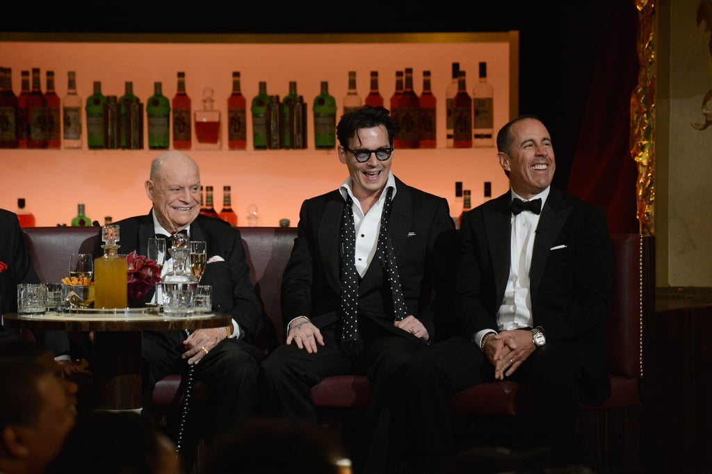 Johnny laughed with Jerry Seinfeld and Don Rickles.